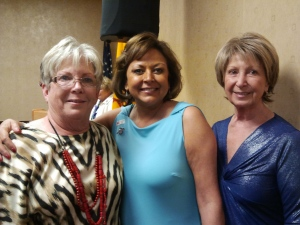 Joan Lang, Governor Martinez and Roberta Heine, 2nd. VP of Palo Verde RW at the NFRW Regional meeting, April 2013.