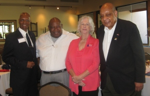 (Left to Right) Rev. Clyde Bowen, Pastor Preston, Marilyn Higgins, and Rev. CT Wright