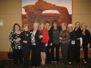 "Ladies of PVRW pose with their ""Best AZ GOP Club"" award."